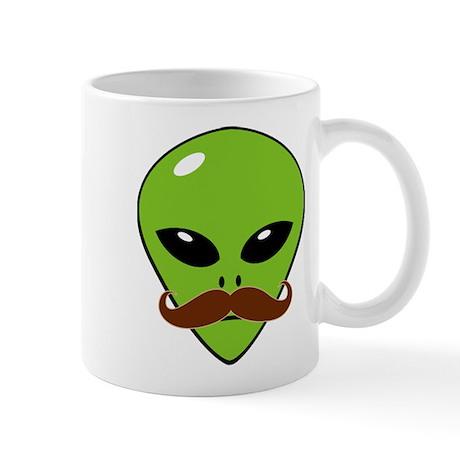 Alien Mustache Mug