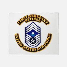 USAF - 1stSgt (E9) - Retired Throw Blanket