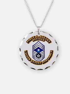 USAF - 1stSgt (E9) - Retired Necklace
