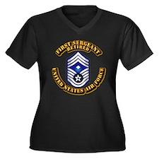 USAF - 1stSgt (E9) - Retired Women's Plus Size V-N