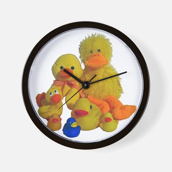 Bunch of Ducks Wall Clock