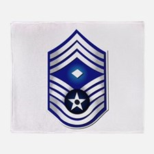 USAF - 1stSgt (E9) - No Text Throw Blanket