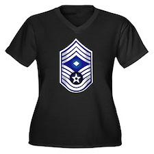 USAF - 1stSgt (E9) - No Text Women's Plus Size V-N