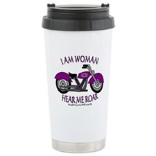 I AM WOMAN HEAR ME ROAR Travel Mug
