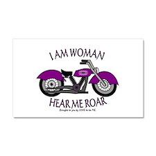 I AM WOMAN HEAR ME ROAR Car Magnet 20 x 12