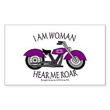 I AM WOMAN HEAR ME ROAR Decal