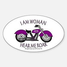 I AM WOMAN HEAR ME ROAR Sticker (Oval)