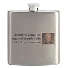 Thomas Jefferson on Democracy Flask