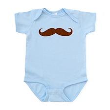 Brown Mustache Infant Bodysuit