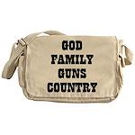 GOD FAMILY GUNS COUNTRY Messenger Bag