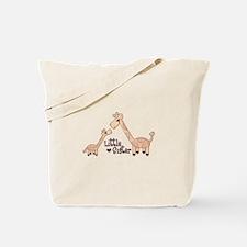 Little Sister Giraffe Tote Bag
