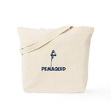 Pemaquid Beach - Lighthouse Design. Tote Bag