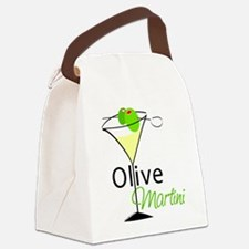 Green Olive Martini Canvas Lunch Bag