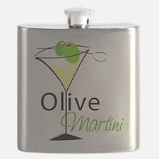 Green Olive Martini Flask