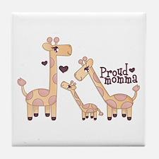 Proud Momma Giraffe Tile Coaster
