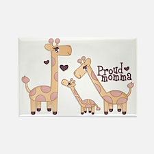 Proud Momma Giraffe Rectangle Magnet
