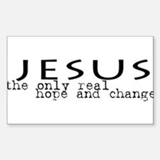 Jesus: the only real HOPE and Oval Decal