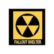 "Fallout Shelter Square Sticker 3"" x 3"""