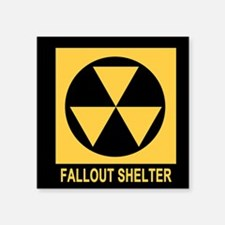 "Fallout Shelter Square Sticker 3"" x 3"""
