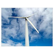 Wind turbine, Orkney Islands, Scotland Poster