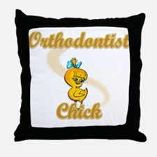 Orthodontist Chick #2 Throw Pillow
