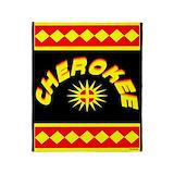 Cherokee symbol Fleece Blankets