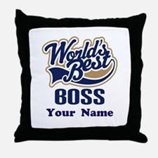 Personalized Boss Throw Pillow