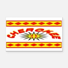 CHEROKEE INDIAN Rectangle Car Magnet