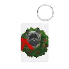 Cairn at Christmas Keychains