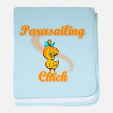 Parasailing Chick #2 baby blanket