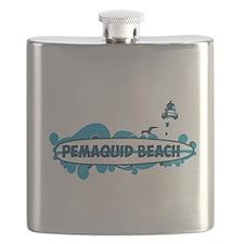 Pemaquid Beach - Surf Design. Flask
