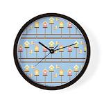 Birds with Bird Houses Wall Clock