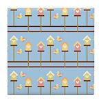 Birds with Bird Houses Tile Coaster