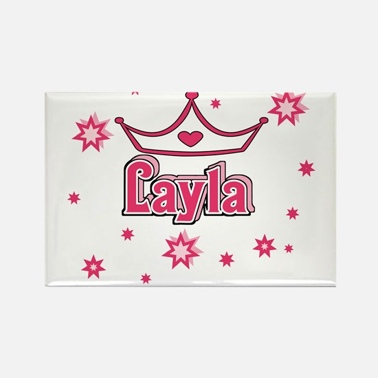 Layla Princess Crown w/Stars Rectangle Magnet
