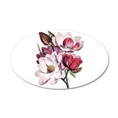 Pink Magnolia Flowers Wall Sticker