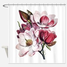 Pink Magnolia Flowers Shower Curtain