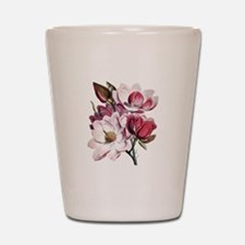 Pink Magnolia Flowers Shot Glass