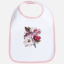 Pink Magnolia Flowers Bib