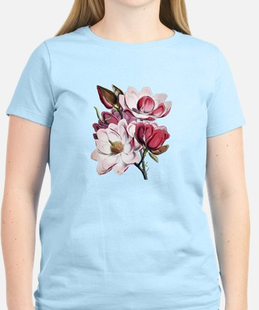 Pink Magnolia Flowers T-Shirt