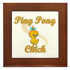 Ping Pong Chick #2 Framed Tile