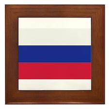 Slovakia flag Framed Tile
