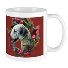 Bedlington with Holiday Wreath Small Mug