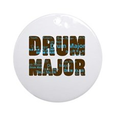 Drum Major Ornament (Round)
