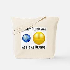 Pluto As Big As Uranus Tote Bag