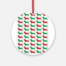 Bassett Hound Christmas or Holiday Silhouette Orna