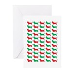 Bassett Hound Christmas or Holiday Silhouette Gree
