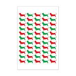 Bassett Hound Christmas or Holiday Silhouette Mini