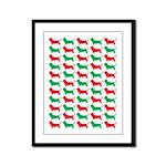 Bassett Hound Christmas or Holiday Silhouette Fram