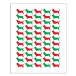 Bassett Hound Christmas or Holiday Silhouette Smal