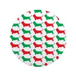 Bassett Hound Christmas or Holiday Silhouette 3.5